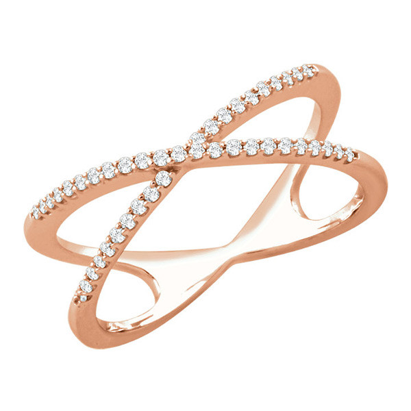 Criss Cross Rose Gold Engagement Ring By Tacori