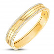 Roberto Coin Portofino 4 Row Yellow Gold & Diamond Bangle Bracelet
