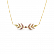 Roberto Coin Frozen 2 18kt Yellow Gold Sapphire Wheat Necklace
