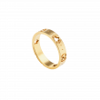 Gucci Icon Star and Interlocking G Ring in Yellow Gold main view