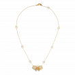 Gucci Le Marché des Merveilles Gold and Diamond Butterfly Interlocking G Necklace main view