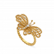 Gucci Le Marché des Merveilles Diamond and Yellow Gold Butterfly Ring main view