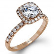 Simon G MR2132 Passion Halo Engagement Setting in Rose