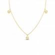 Roberto Coin Three Diamond Station Necklace in 18K Gold