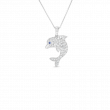 Roberto Coin Tiny Treasure Dolphin Necklace in 18K Gold front view