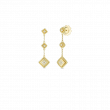 Roberto Coin Palazzo Ducale 18K Gold Diamond Drop Earrings front view