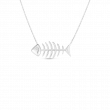 Roberto Coin Tiny Treasure Fishbone 18K Gold Necklace front view
