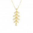 Roberto Coin Byzantine Barocco Diamond Branch Necklace in 18K Gold