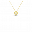 Roberto Coin Palazzo Ducale 18K Gold Square Necklace yellow gold