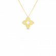 Roberto Coin Venetian Princess 18K Gold Flower Necklace yellow gold