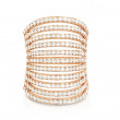 Carbon & Hyde Wide Rose Gold Pave Diamond Spine Ring