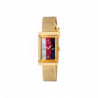 Gucci G-Frame 34mm Yellow Gold Mesh Watch face