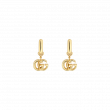 Gucci GG Running 18K Yellow Gold Drop Earrings