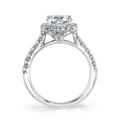 MARS Ever After 25574 Cushion Diamond Halo Engagement Ring Setting