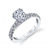 MARS Ever After 27037 Oval Diamond Euro Shank Engagement Ring Setting