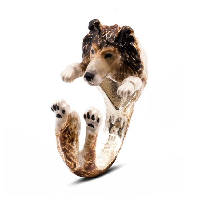 DOG FEVER COLLIE ENAMEL HUG RING - DUNN JEWELERS - RosiRoss