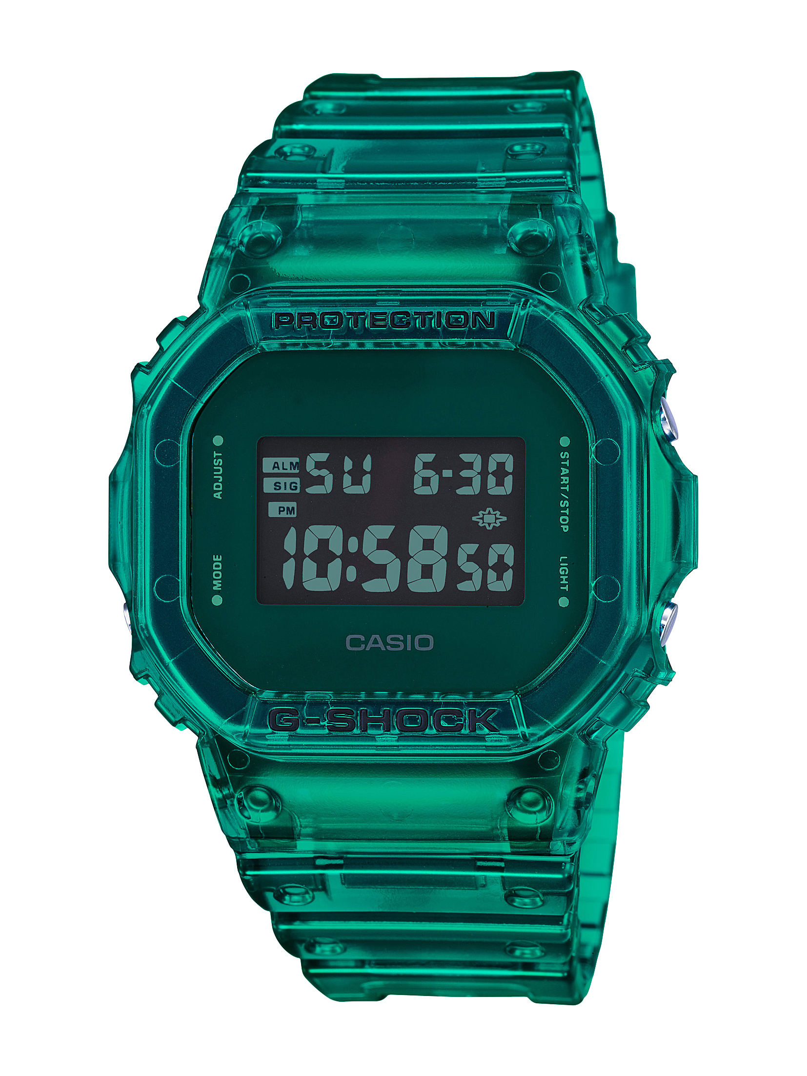 G-SHOCK COLOR SKELETON GREEN DIGITAL WATCH – 42.8MM