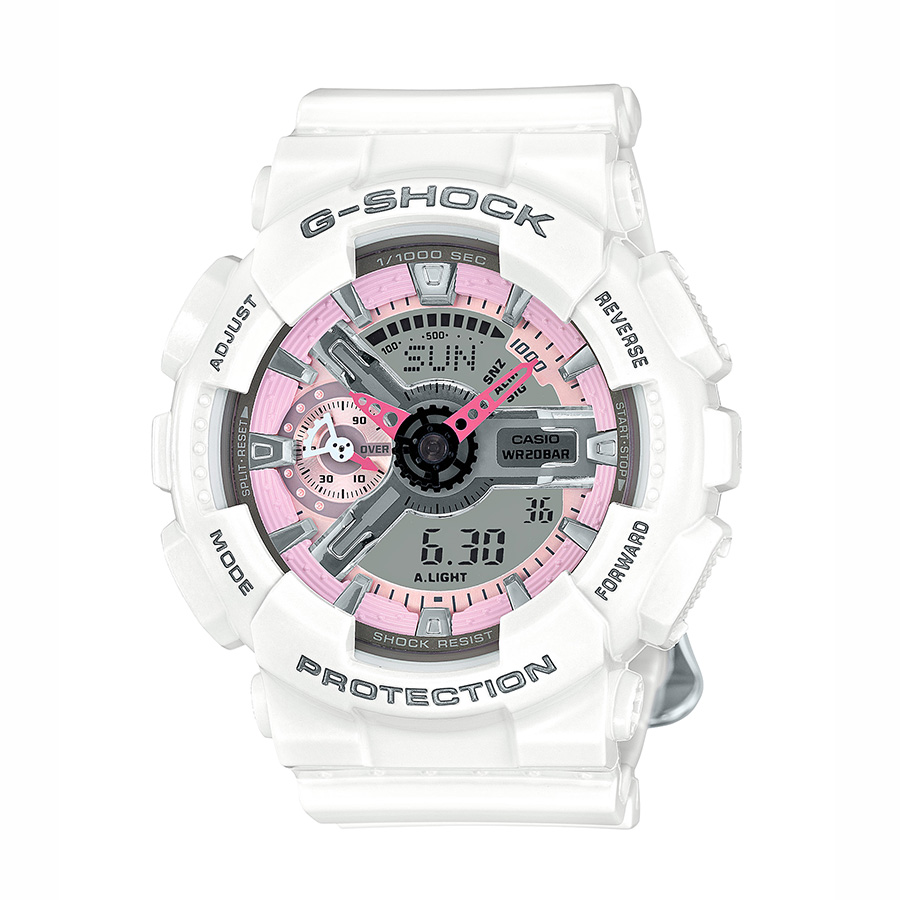 G-Shock S-Series White Resin Women s Watch with Pink Details  8a5409284