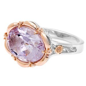 Tacori Color Medley Silver & Rose Gold Oval Cocktail Ring