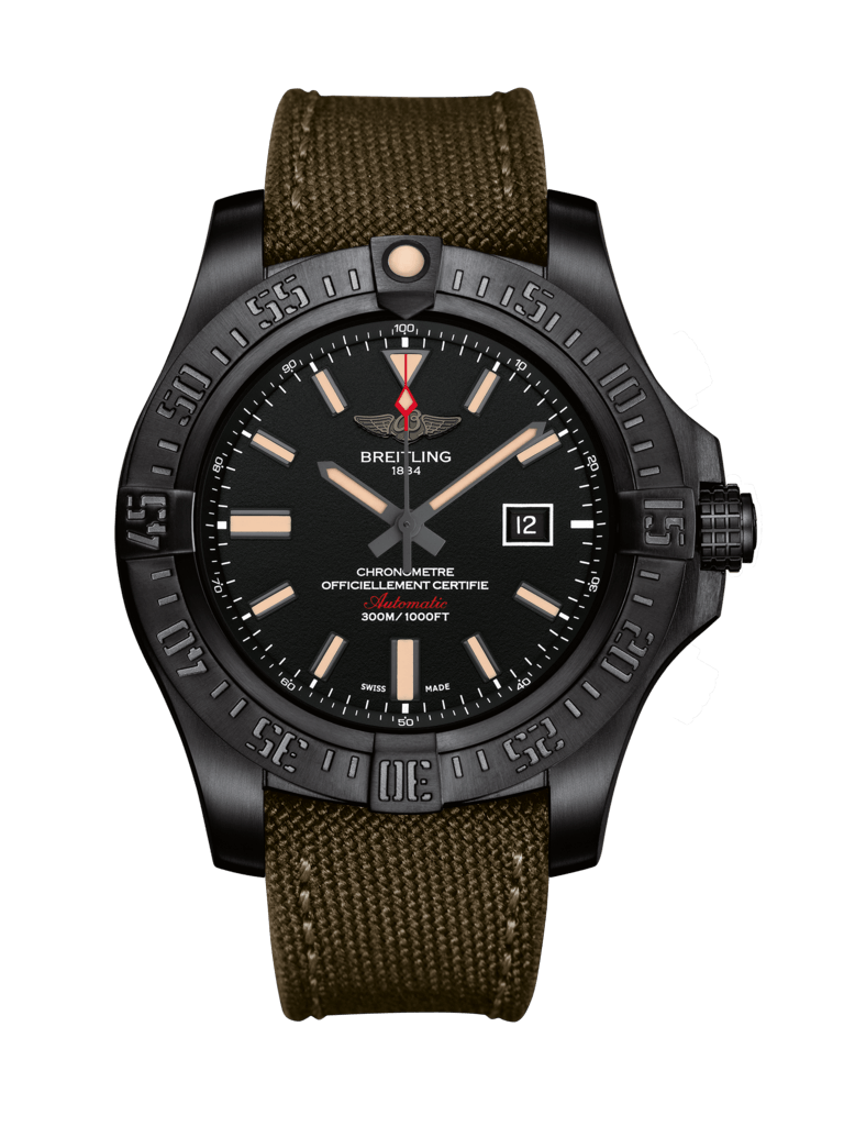 Breitling Avenger Blackbird Black Titanium Watch