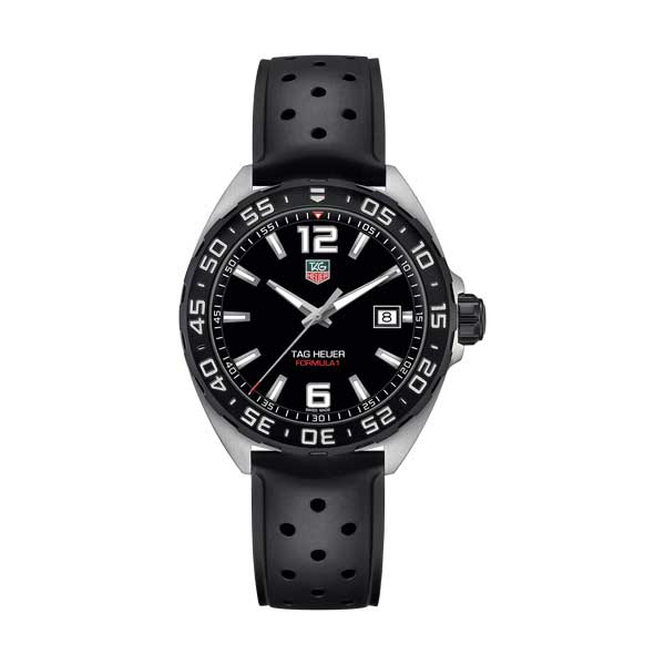 Tag Heuer Formula 1 Black Dial Watch with Black Rubber Strap