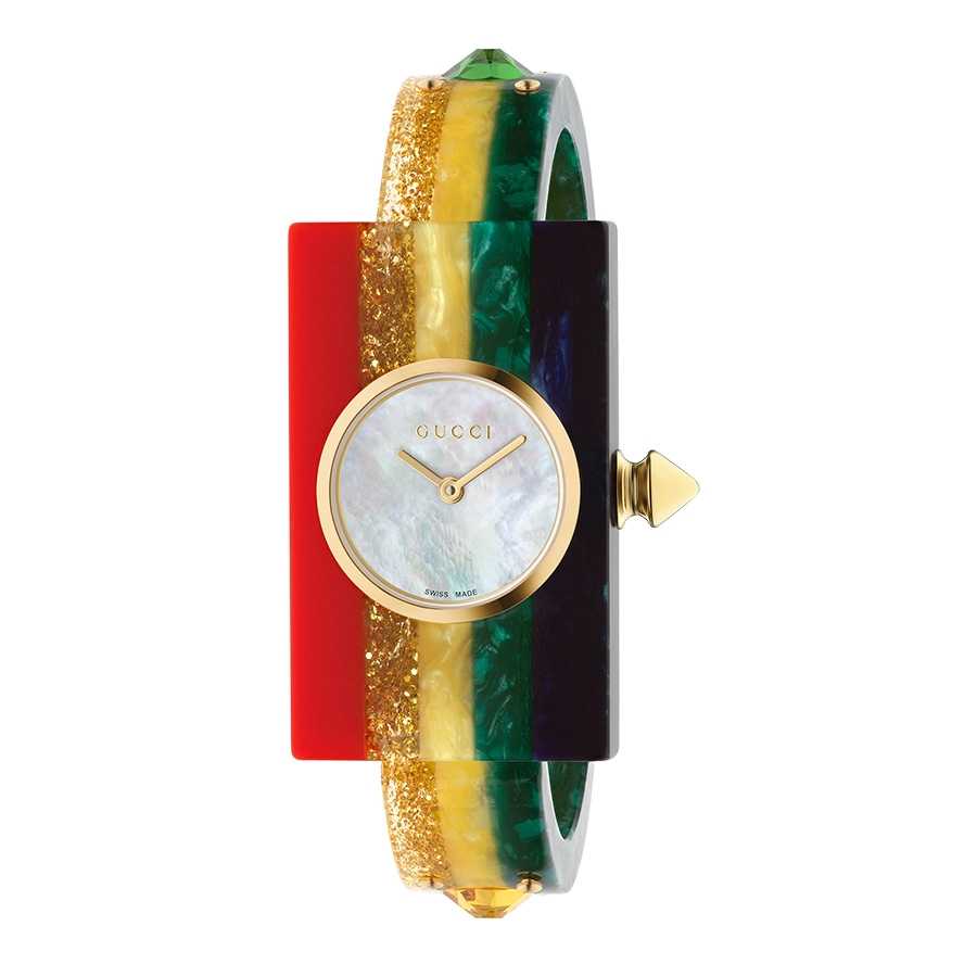 cc1fe79be49 Gucci Rainbow White Mother of Pearl   Rhinestone Watch