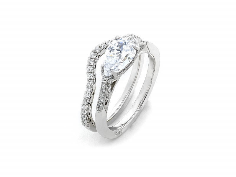 Tacori Curved Band and Engagement Ring
