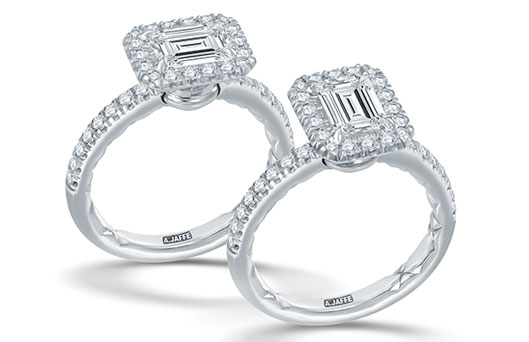 A Jaffe Pirouette Engagement Rings