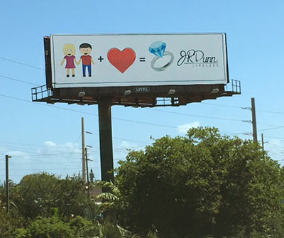 J.R. Dunn Jewelers Emoji Billboard