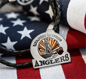 Wounded Warrior Anglers Necklace Medallion