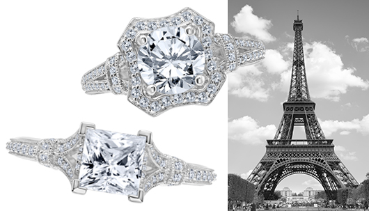 Karl Lagerfeld Eiffel Tower Engagement Rings