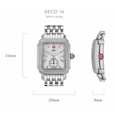 Michele Deco 16 Watch Case Size Guide
