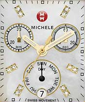Michele Date Chronograph Model ISA 8172-220 Watch Face