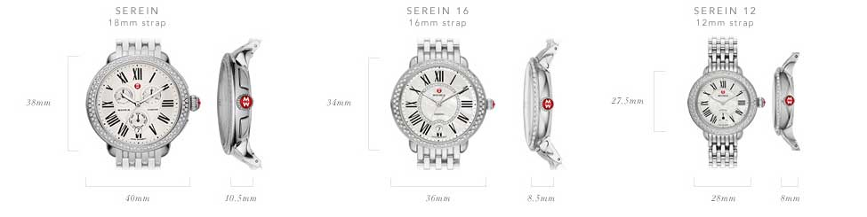 Michele Serein Watch Collection Size Guide