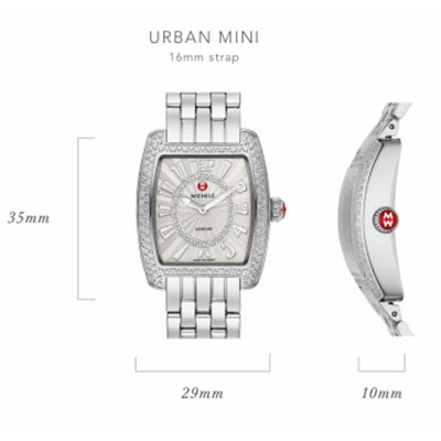 Michele Urban Mini Watch Case Size Guide