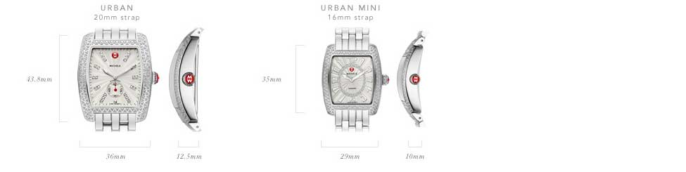 Michele Urban Watch Collection Size Guide