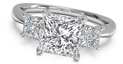 Ritani Three Stone Engagement Rings