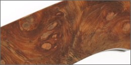 Knife Scale made from Amboyna Burl
