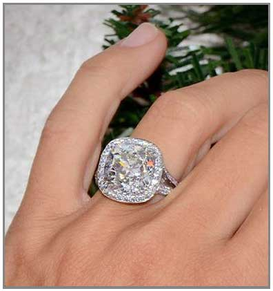 big halo engagement ring - Large Wedding Rings
