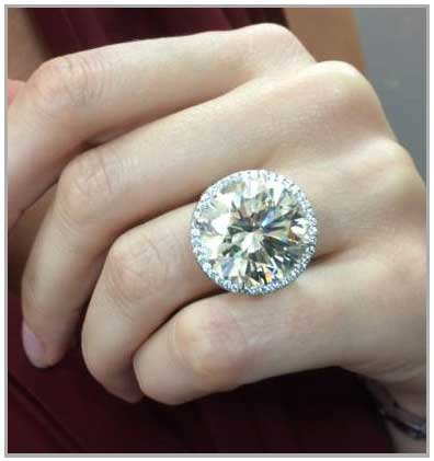 Big Diamond Engagement Rings That Excite