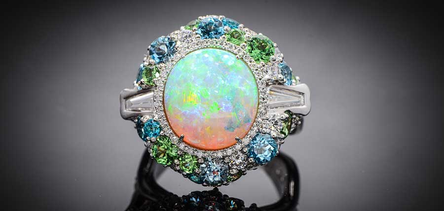 Lightning Ridge Opal Sparks Ring Design
